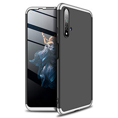 Funda Dura Plastico Rigida Carcasa Mate Frontal y Trasera 360 Grados P02 para Huawei Honor 20 Plata