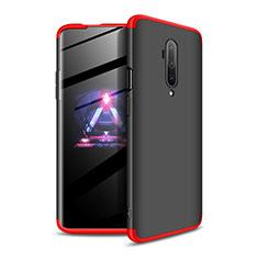 Funda Dura Plastico Rigida Carcasa Mate Frontal y Trasera 360 Grados P02 para OnePlus 7T Pro Rojo y Negro