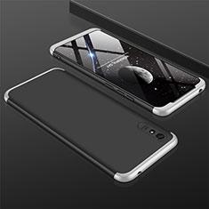 Funda Dura Plastico Rigida Carcasa Mate Frontal y Trasera 360 Grados P03 para Xiaomi Redmi 9i Plata y Negro