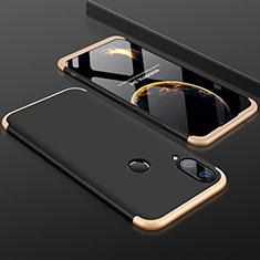 Funda Dura Plastico Rigida Carcasa Mate Frontal y Trasera 360 Grados para Huawei Enjoy 9 Plus Oro y Negro