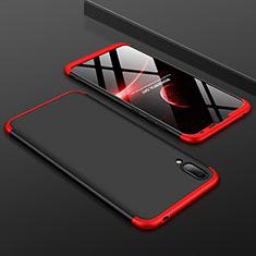 Funda Dura Plastico Rigida Carcasa Mate Frontal y Trasera 360 Grados para Huawei Enjoy 9 Rojo y Negro