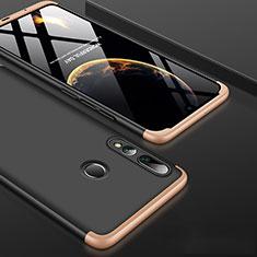 Funda Dura Plastico Rigida Carcasa Mate Frontal y Trasera 360 Grados para Huawei Honor 20 Lite Oro y Negro