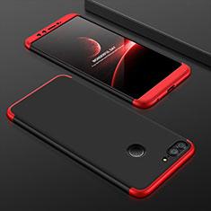 Funda Dura Plastico Rigida Carcasa Mate Frontal y Trasera 360 Grados para Huawei Honor 9 Lite Rojo y Negro