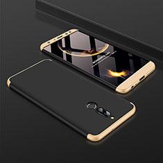 Funda Dura Plastico Rigida Carcasa Mate Frontal y Trasera 360 Grados para Huawei Mate 10 Lite Oro y Negro
