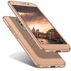 Funda Dura Plastico Rigida Carcasa Mate Frontal y Trasera 360 Grados para Huawei Mate 9 Lite Oro
