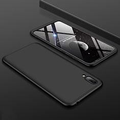 Funda Dura Plastico Rigida Carcasa Mate Frontal y Trasera 360 Grados para Huawei Y7 Prime (2019) Negro