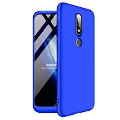 Funda Dura Plastico Rigida Carcasa Mate Frontal y Trasera 360 Grados para Nokia X6 Azul