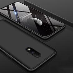 Funda Dura Plastico Rigida Carcasa Mate Frontal y Trasera 360 Grados para OnePlus 7 Negro