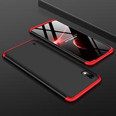 Funda Dura Plastico Rigida Carcasa Mate Frontal y Trasera 360 Grados para Samsung Galaxy A10 Rojo y Negro