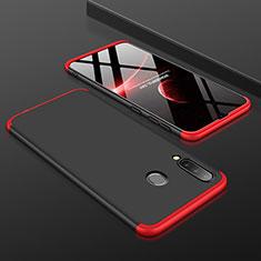 Funda Dura Plastico Rigida Carcasa Mate Frontal y Trasera 360 Grados para Samsung Galaxy A30 Rojo y Negro