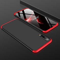 Funda Dura Plastico Rigida Carcasa Mate Frontal y Trasera 360 Grados para Samsung Galaxy A50 Rojo y Negro