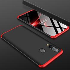 Funda Dura Plastico Rigida Carcasa Mate Frontal y Trasera 360 Grados para Samsung Galaxy A60 Rojo y Negro