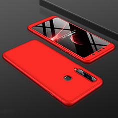 Funda Dura Plastico Rigida Carcasa Mate Frontal y Trasera 360 Grados para Samsung Galaxy A9s Rojo