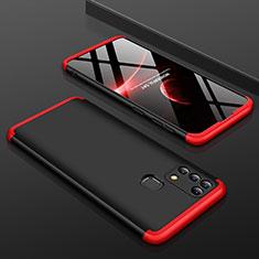 Funda Dura Plastico Rigida Carcasa Mate Frontal y Trasera 360 Grados para Samsung Galaxy M31 Prime Edition Rojo y Negro