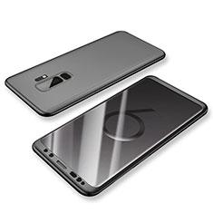 Funda Dura Plastico Rigida Carcasa Mate Frontal y Trasera 360 Grados para Samsung Galaxy S9 Plus Negro