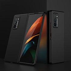 Funda Dura Plastico Rigida Carcasa Mate Frontal y Trasera 360 Grados para Samsung Galaxy Z Fold2 5G Negro