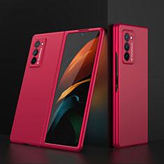 Funda Dura Plastico Rigida Carcasa Mate Frontal y Trasera 360 Grados para Samsung Galaxy Z Fold2 5G Rojo