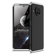 Funda Dura Plastico Rigida Carcasa Mate Frontal y Trasera 360 Grados para Xiaomi Mi 10T Lite 5G Plata y Negro