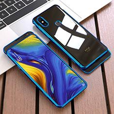 Funda Dura Plastico Rigida Carcasa Mate Frontal y Trasera 360 Grados para Xiaomi Mi Mix 3 Azul