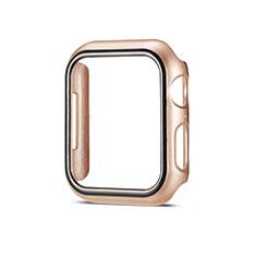 Funda Dura Plastico Rigida Carcasa Mate M01 para Apple iWatch 5 44mm Oro