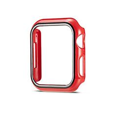 Funda Dura Plastico Rigida Carcasa Mate M01 para Apple iWatch 5 44mm Rojo