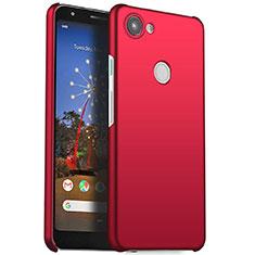 Funda Dura Plastico Rigida Carcasa Mate M01 para Google Pixel 3a Rojo