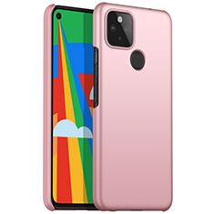 Funda Dura Plastico Rigida Carcasa Mate M01 para Google Pixel 5 Oro Rosa