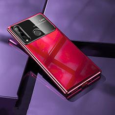 Funda Dura Plastico Rigida Carcasa Mate M01 para Huawei Enjoy 10 Plus Rojo