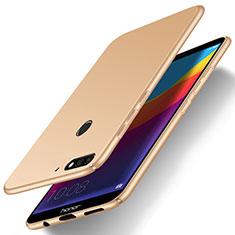 Funda Dura Plastico Rigida Carcasa Mate M01 para Huawei Honor 7A Oro