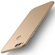 Funda Dura Plastico Rigida Carcasa Mate M01 para Huawei Honor 7X Oro