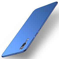 Funda Dura Plastico Rigida Carcasa Mate M01 para Huawei P20 Azul