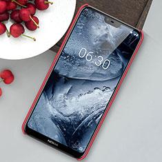 Funda Dura Plastico Rigida Carcasa Mate M01 para Nokia 6.1 Plus Rojo