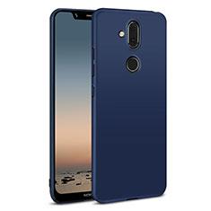 Funda Dura Plastico Rigida Carcasa Mate M01 para Nokia 7.1 Plus Azul