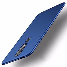 Funda Dura Plastico Rigida Carcasa Mate M01 para Nokia X5 Azul