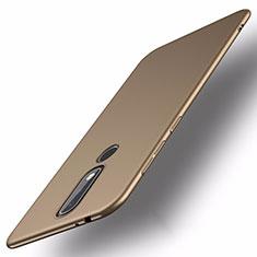 Funda Dura Plastico Rigida Carcasa Mate M01 para Nokia X5 Oro