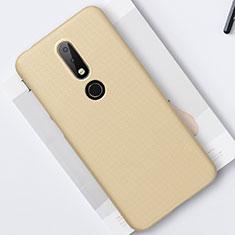 Funda Dura Plastico Rigida Carcasa Mate M01 para Nokia X6 Oro