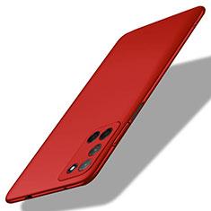 Funda Dura Plastico Rigida Carcasa Mate M01 para Oppo A92 Rojo