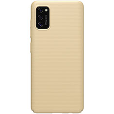 Funda Dura Plastico Rigida Carcasa Mate M01 para Samsung Galaxy A41 Oro