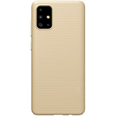 Funda Dura Plastico Rigida Carcasa Mate M01 para Samsung Galaxy A51 5G Oro