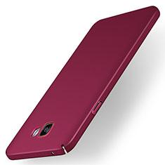 Funda Dura Plastico Rigida Carcasa Mate M01 para Samsung Galaxy A7 (2016) A7100 Rojo