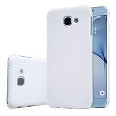 Funda Dura Plastico Rigida Carcasa Mate M01 para Samsung Galaxy A8 (2016) A8100 A810F Blanco