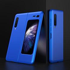 Funda Dura Plastico Rigida Carcasa Mate M01 para Samsung Galaxy Fold Azul