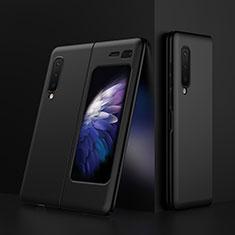 Funda Dura Plastico Rigida Carcasa Mate M01 para Samsung Galaxy Fold Negro