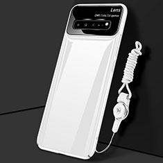 Funda Dura Plastico Rigida Carcasa Mate M01 para Samsung Galaxy S10 5G SM-G977B Blanco