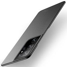 Funda Dura Plastico Rigida Carcasa Mate M01 para Samsung Galaxy S21 Ultra 5G Negro