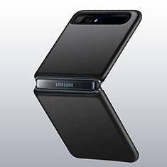 Funda Dura Plastico Rigida Carcasa Mate M01 para Samsung Galaxy Z Flip 5G Negro