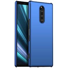 Funda Dura Plastico Rigida Carcasa Mate M01 para Sony Xperia 1 Azul