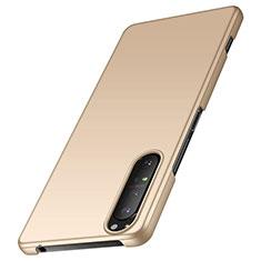 Funda Dura Plastico Rigida Carcasa Mate M01 para Sony Xperia 1 II Oro