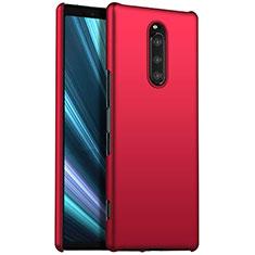 Funda Dura Plastico Rigida Carcasa Mate M01 para Sony Xperia 1 Rojo