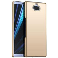 Funda Dura Plastico Rigida Carcasa Mate M01 para Sony Xperia 10 Plus Oro